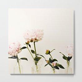 Four Friends Peony Flowers Metal Print