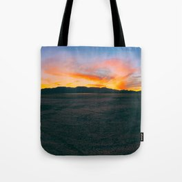 Fiery Sunset 1 || Dry Lake Bed Tote Bag