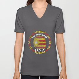 Catalonia Its In My DNA Independence Flag Unisex V-Neck