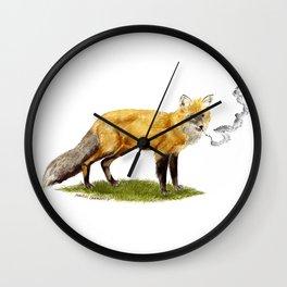 Smoking Fox Wall Clock