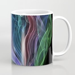 Pleated Rainbow Aurora String Theory Art #5 Coffee Mug