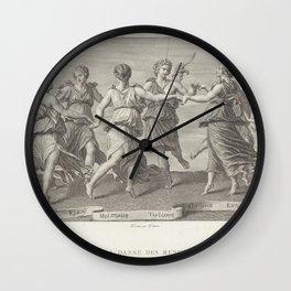 Romano Giulio  ArApollo dancing with the MusesAdditional Danse des MusesAdditional Ballo di Apollo con le Muse Wall Clock