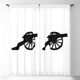 American Civil War Cannon Silhouette Blackout Curtain