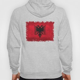 Albanian Flag with Grungy Texture Hoody