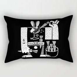 Carrots All Day Long Rectangular Pillow