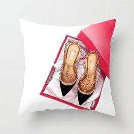 Fashion shoes Throw Pillow