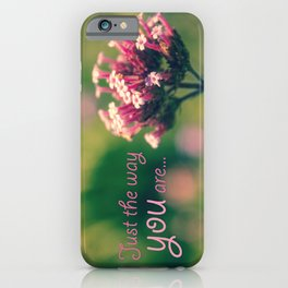 Spring Blooming Pink Flowers with Green Bokeh Background iPhone Case