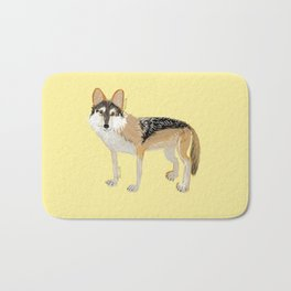 Mexican Wolf (Canis lupus baileyi) (TOPOS) Bath Mat