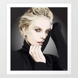 "Charlize Theron ""Rotoscoping"" Art Print"
