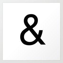 Ampersand: Helvetica Art Print