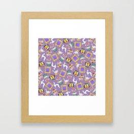 Friends icons Framed Art Print