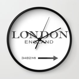watercolor London England Wall Clock