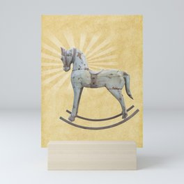 Vintage rocking horse - Toy Photography #Society6 Mini Art Print