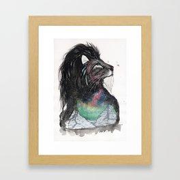 Realis the Aurora Lion. Framed Art Print