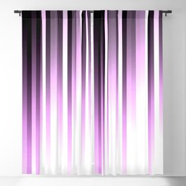 Ultra violet madness, dark shades lines print Blackout Curtain
