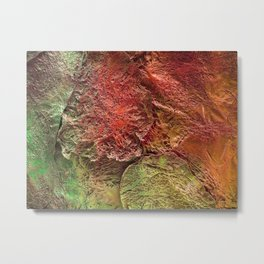Abstract plastic surface Metal Print
