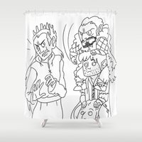 fili Shower Curtains featuring SLAP! by Lila Gonzalez