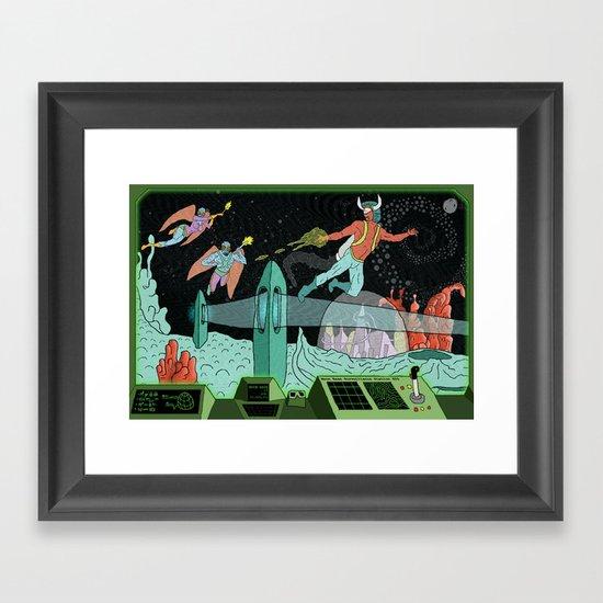 Surveillance of Moon Base 23 Framed Art Print