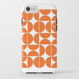 Mid Century Modern Geometric 04 Orange iPhone Case