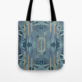 Tropical Art Deco 1.1a Blue, Green, Gold Tote Bag