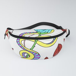 Serpent and a Rose Fanny Pack