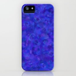 Royal Blue Floral Abstract iPhone Case