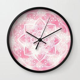 Mandala pink paint Wall Clock