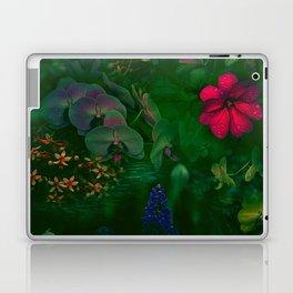 Gathering of Flowers - [Green Version] Laptop & iPad Skin