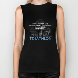 Funny In My Head I'm Doing Triathlon Triathlete Biker Tank