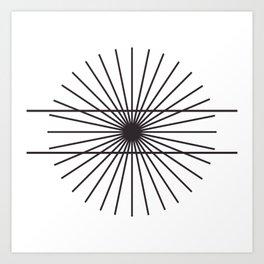 Optical illusion gift math geometry school Art Print