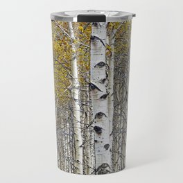Birch Trees in Autumn Travel Mug