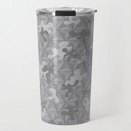'Space Grey Camo Pattern' by: Allan C Travel Mug