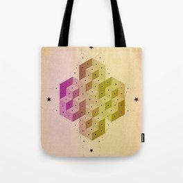 Cubic Totems Tote Bag