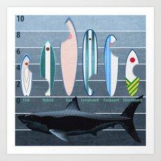 Shark Week - A balanced diet is essential  Art Print