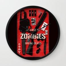 Zombie Emergency Kit Wall Clock