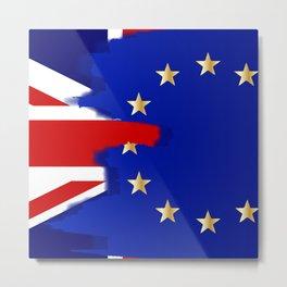 Union Jack and EU Blend Metal Print