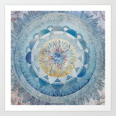 Winter's Thaw Mandala Art Print