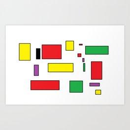 call me square Art Print