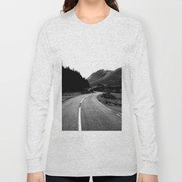 Road through the Glen - B/W Long Sleeve T-shirt