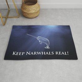 Keep Narwhals Real! Rug