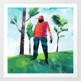 Forest Man Art Print