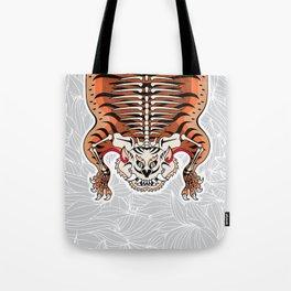 TIBETAN TIGER - SKELETON (white) Tote Bag