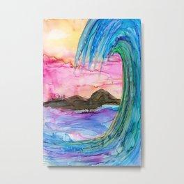 Vibrant Wave Metal Print