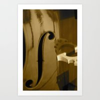 cello Art Prints featuring Cello by CC McAlister