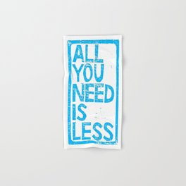 All You Need Is Less Hand & Bath Towel