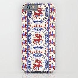 Täcke  Antique Swedish Skåne Rug Print iPhone Case