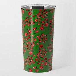 Ladybug in green Travel Mug