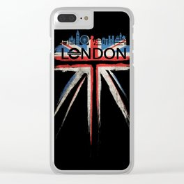 London Pride_Black Clear iPhone Case