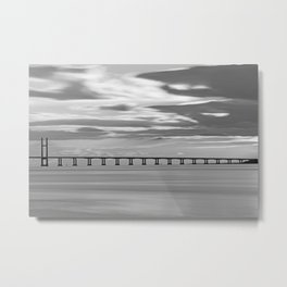 Severn Crossing Sunset Metal Print