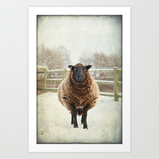 Zombie sheep Art Print